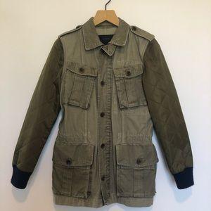 J.crew army green field jacket size XS